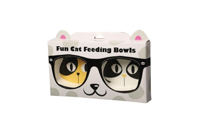 Cocooning fun cat feeding bowls